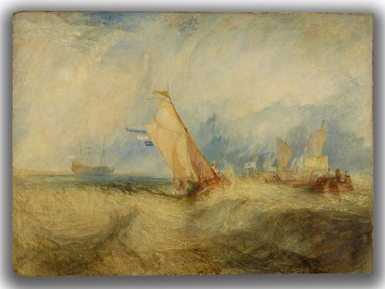 Turner, J.M.W: Van Tromp, Going About to Please his Masters, Ships a Sea, Getting a Good Wetting. Fine Art Canvas. Sizes: A4/A3/A2/A1 (004153)